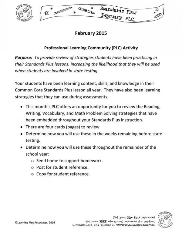 February Standards Plus PLC